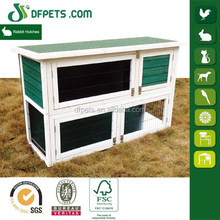 2 Story Stacked Wooden Outdoor Bunny Rabbit Hutch / Guinea Pig House