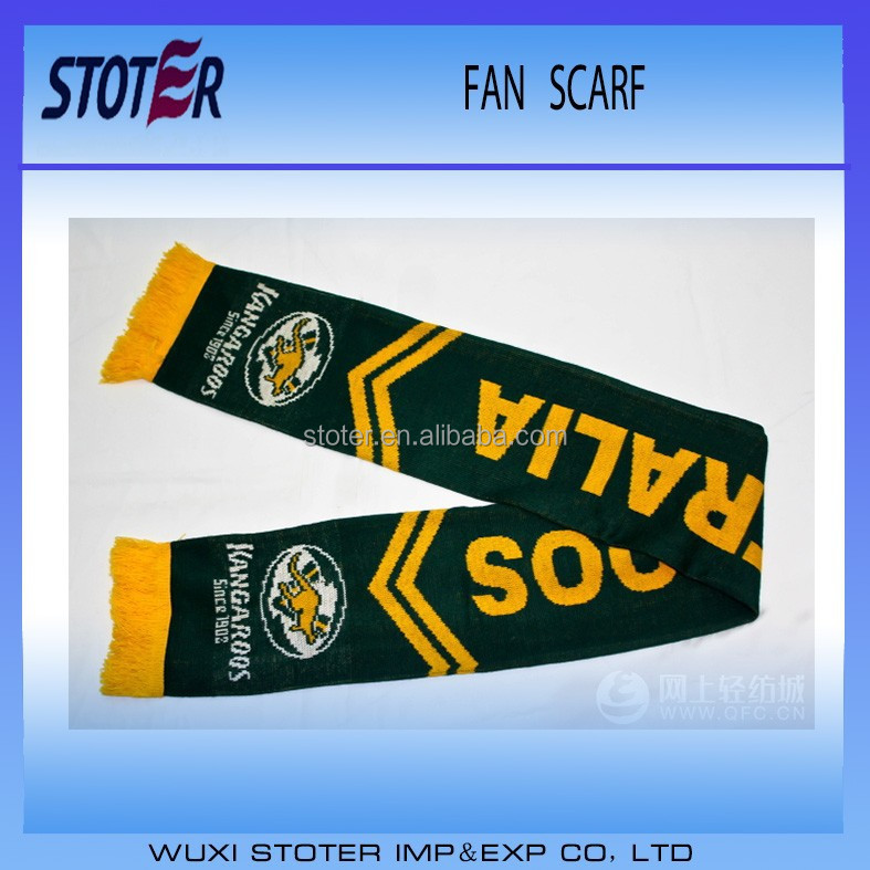 customer design silk printing digital printing acrylic soccor scarf