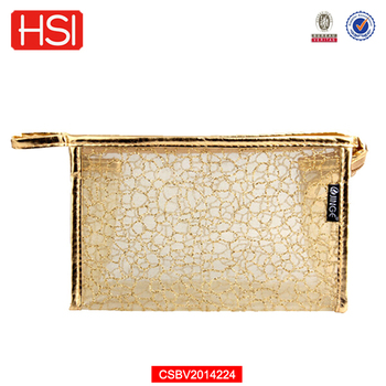 Rose Gold Transpa Pvc Cosmetic Bags With Zipper Bag Wit Product On