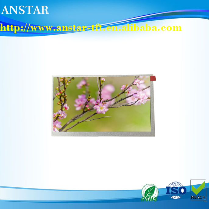 2017 Latest design 7 inch 1024 * 600p 40pin tft lcd panel with super high luminance of 1500nits