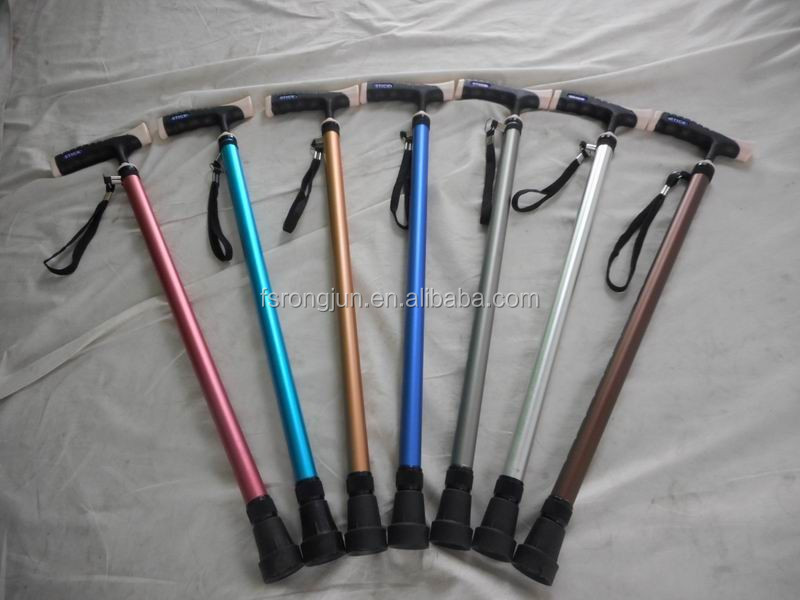 high quality funky fashion colored walking stick crutches single cane for senior market RJ-A905LC