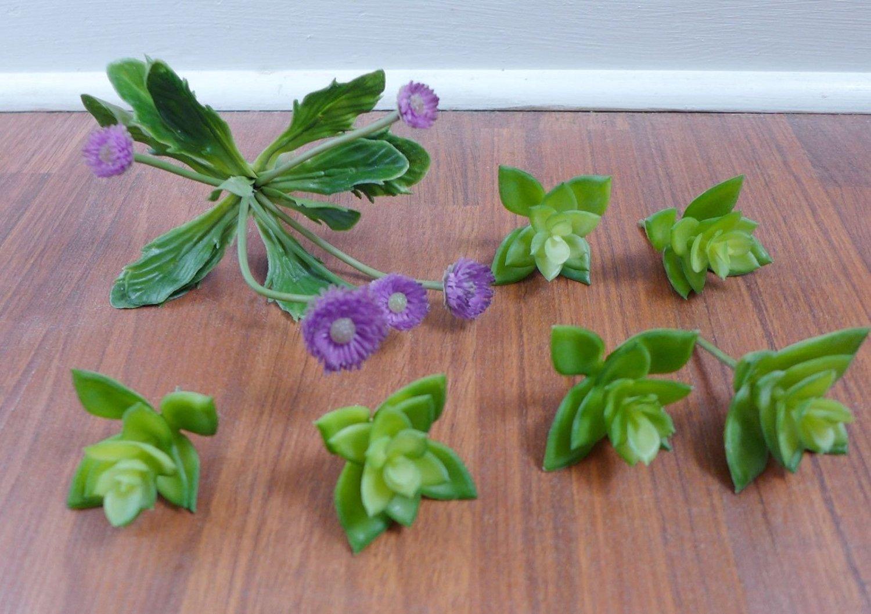 Buy 1 Set Artificial Plants Bouquet Succulents 7 Miniature Lotus
