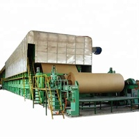 Recycling Craft Paper Used for Producing Carton Box/Test Liner Fluting Paper Jumbo Roll Making Machine