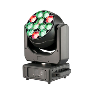 Beyond Lighting Zoom Moving Head Light 12x40W Stage Lighting Effect 4 Color RGBW and Dmx Control Dj Disco and Nightclub