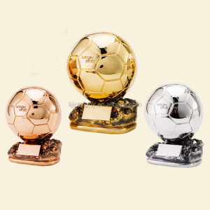 resin gold football sports messiz trophies and awards