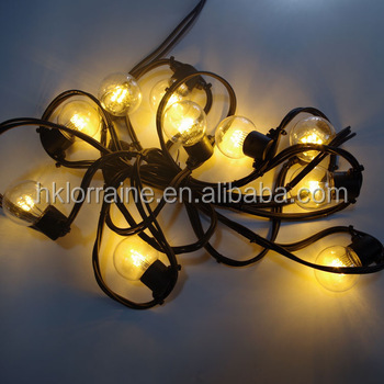 25 Led Copper Wire Bulbs Lights G40 String Outdoor Decorative For Bedroom Party