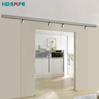Modern Internal Glass Interior Sliding Door System Indoor Living Room dividers