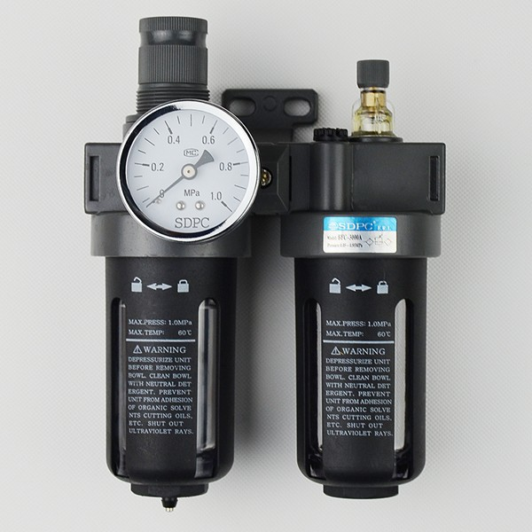 Pneumatic filter regulator lubricator AirTAC for compressed air oil BFC300A in air source treatment unit