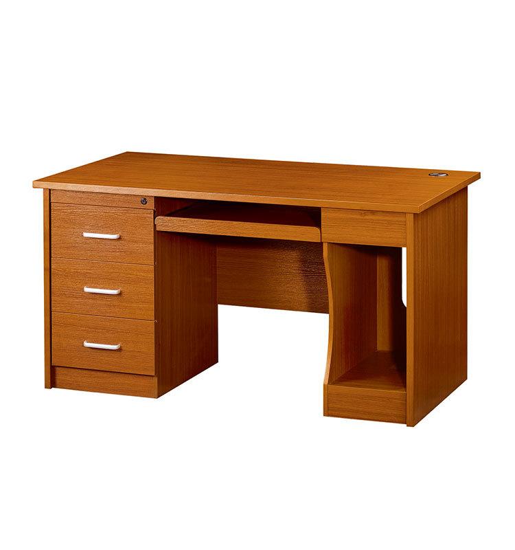 Dark wood color mfc cheap computer table buy cheap for Escritorio de oficina precio