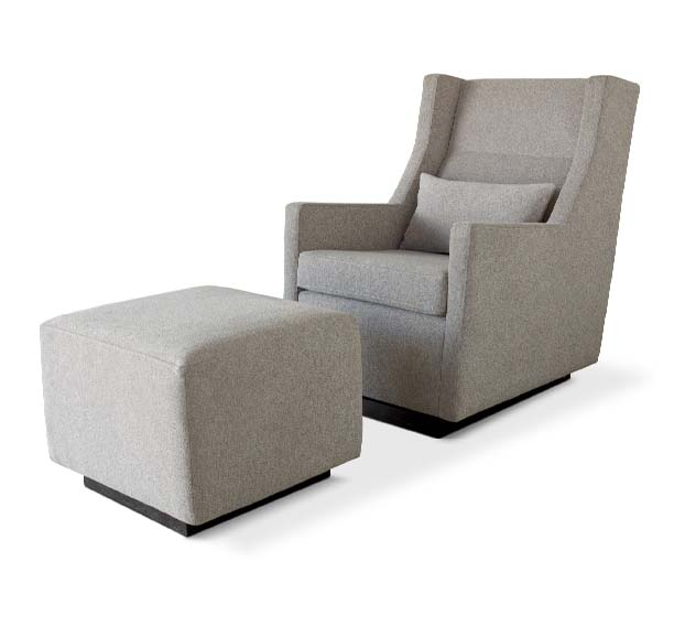 Modern Sparrow Glider lounge chair with Ottoman