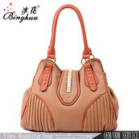 USA handbags export customized tote bag, ladies leather handbags sale