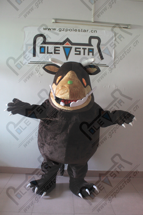 Stereo face gruffalo mascot costumes hand make high quality walking actor