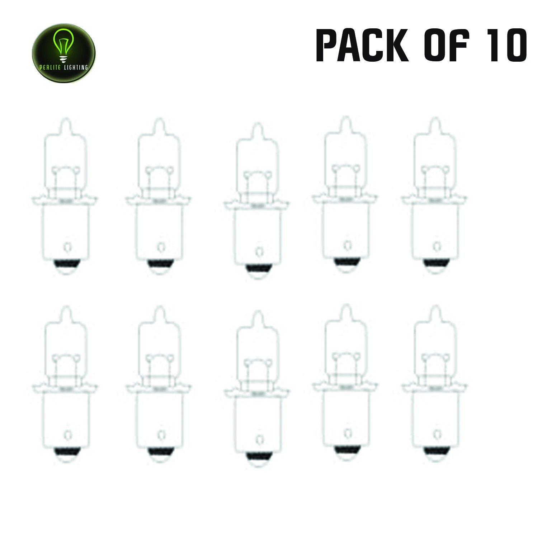 Perlite Lighting (Pack of 10) HPR52/2.8V 2.4-Watt T3 .85A Miniatures (Flanged & Telephone Slide) P13.5s Base 2.8-Volt Light Bulb