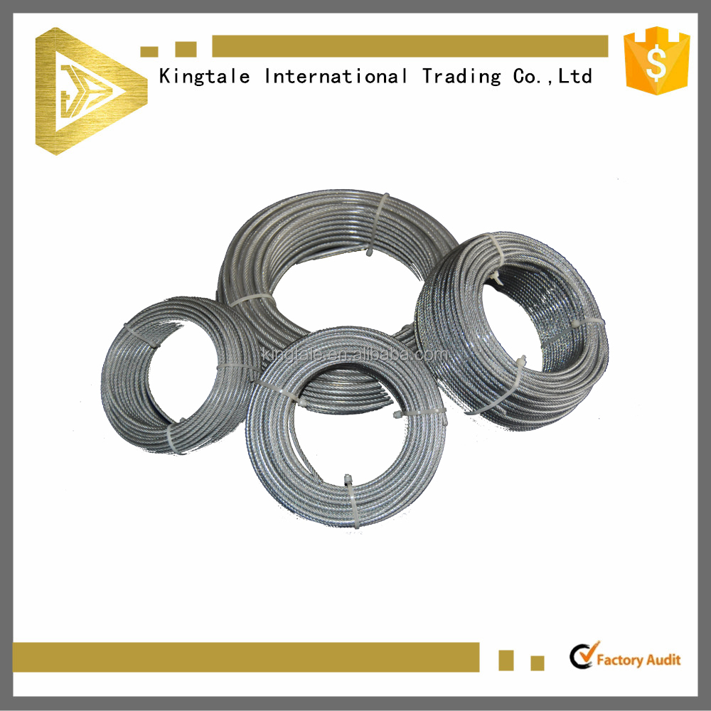 6*19 FC PVC coated galvanized steel wire rope 12mm manufacturers price 10mm