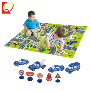 Traffic police car baby baby crawling mat carpet kid play mat