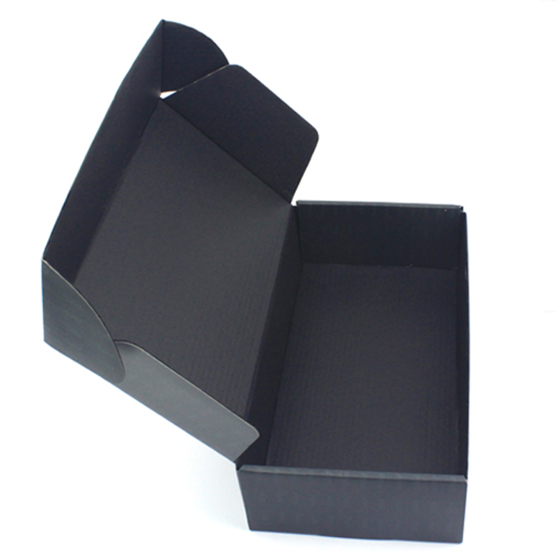 Hight Quality Cheap Custom Printing Black Corrugated Cardboard Boxes