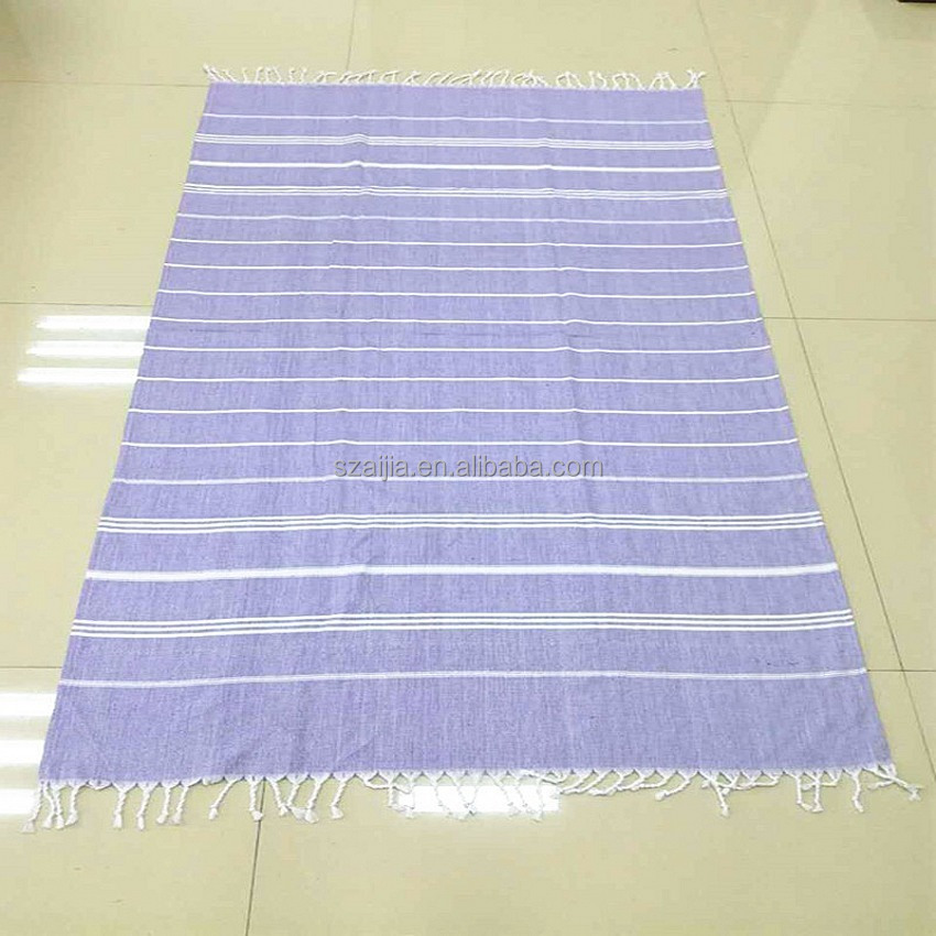 Ladies 100 cotton woven stripe turkey sarong beach scarf