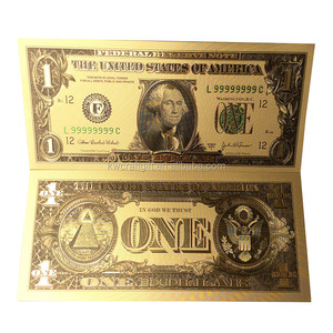 24K gold foil banknote Copy Paper Money Art & Collectible US dollar banknote