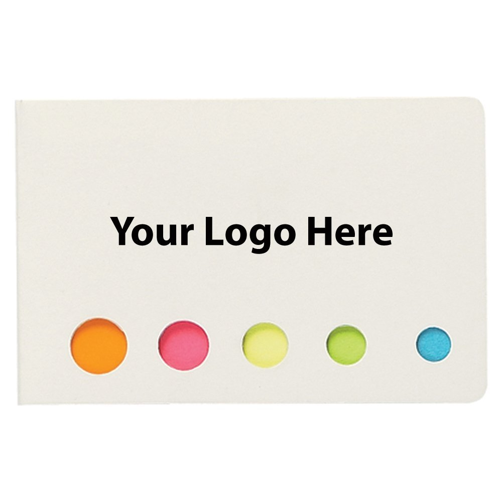 Sticky Flags In Pocket Case - 250 Quantity - $0.65 Each - PROMOTIONAL PRODUCT / BULK / BRANDED with YOUR LOGO / CUSTOMIZED