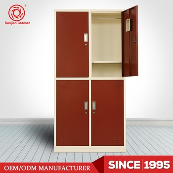 4 Door Cabinet Design Luoyang Produce Storage Metal Clothes Cabinets Locker Product On