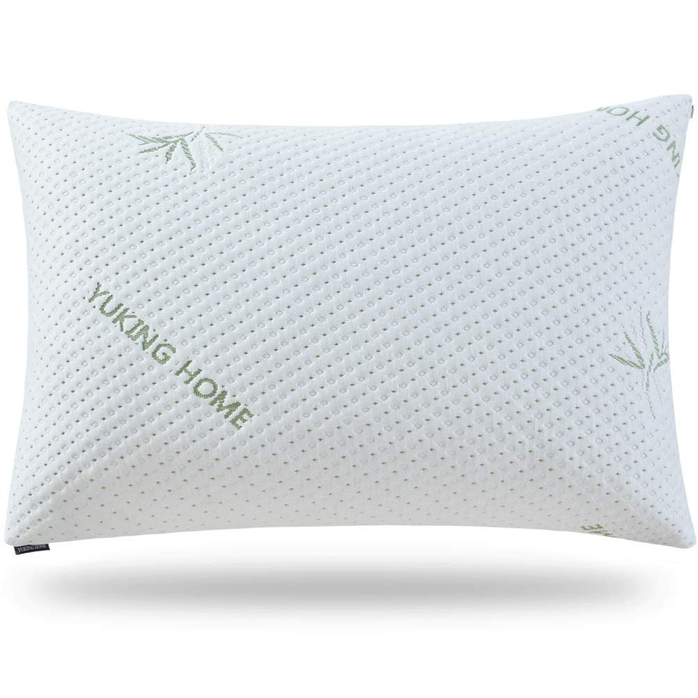 Yuking home bed pillows for sleeping neck pain relief adjustable loft shredded latex pillow for