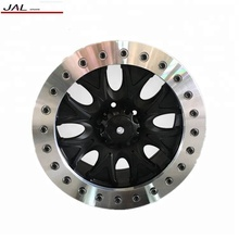 17 Inch Alloy Wheels With Chrome Beadlock Ring Car Rims 4x4 SUV