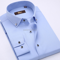 Latest shirts pattern for men long sleeve polo shirt