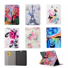 For Samsung Galaxy Tab S2 8.0 SM T710 T715 T715C Tablet Flower Leather design Holster Flip Leather Case Back Cover
