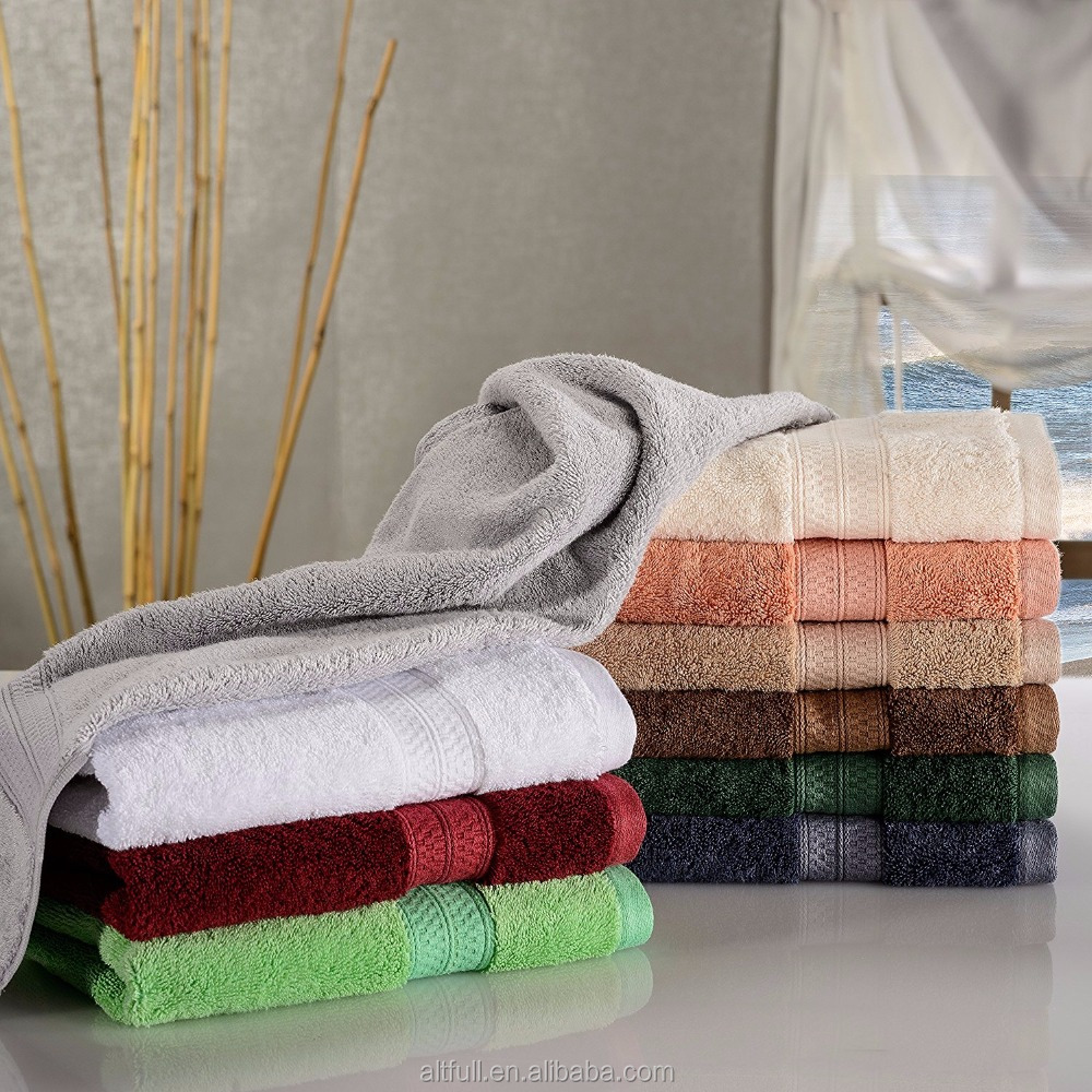 World Best Selling Products Dobby Soft Luxury Bamboo Fiber Towel Textile