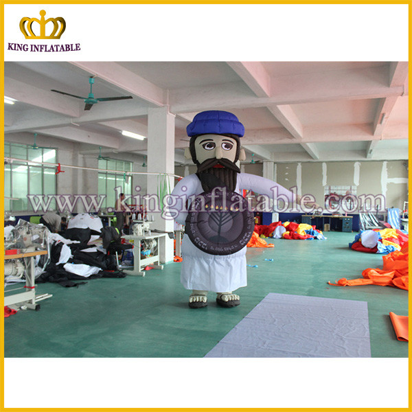 Customized inflatable moving cloth, advertising inflatable walking man, inflatable figure
