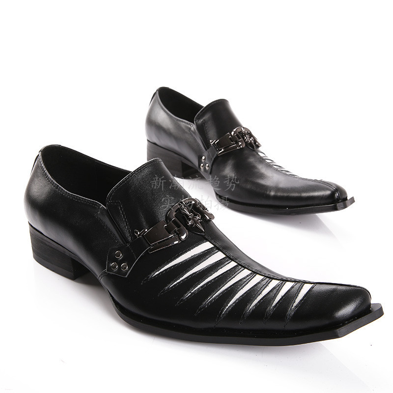 200a5fec 2015 Fashion Men Brand Shoes White Stripe Oxford Shoes Men Genuine Leather  Flat Shoes Black Men
