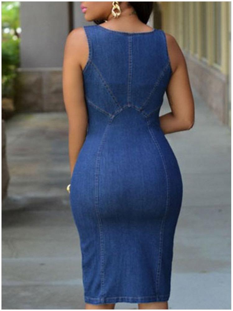 8d4dc0b00b89a8 FY New Fashion Slip Summer Sleeveless Bodyon Denim jean dresses for women  Dress Jean zipper front