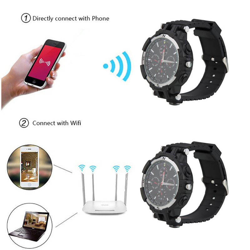 Hd 720p Wifi Smart Spy Wrist Watch Camera With Motion Detection ...