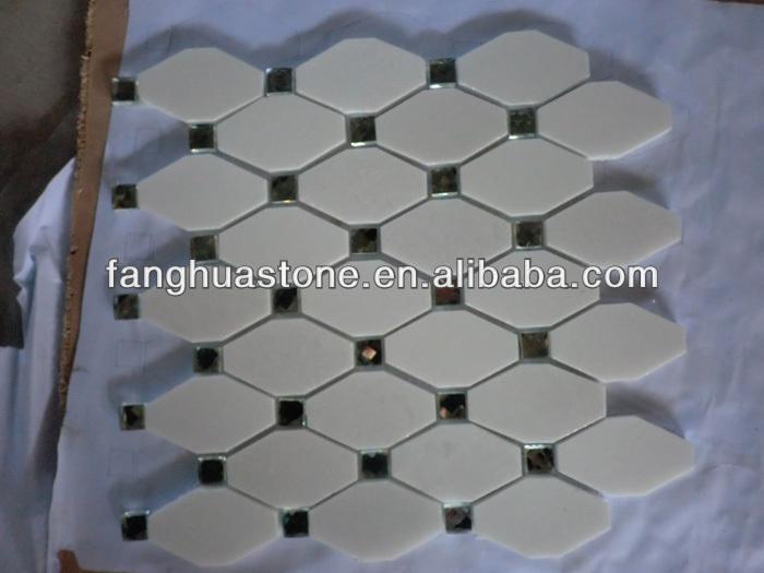 Yunfu esagonale mosaico pavimento del bagno piastrelle for Mosaico pavimento