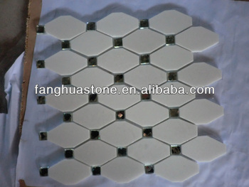 Yunfu esagonale mosaico pavimento del bagno piastrelle - Piastrelle tipo mosaico ...