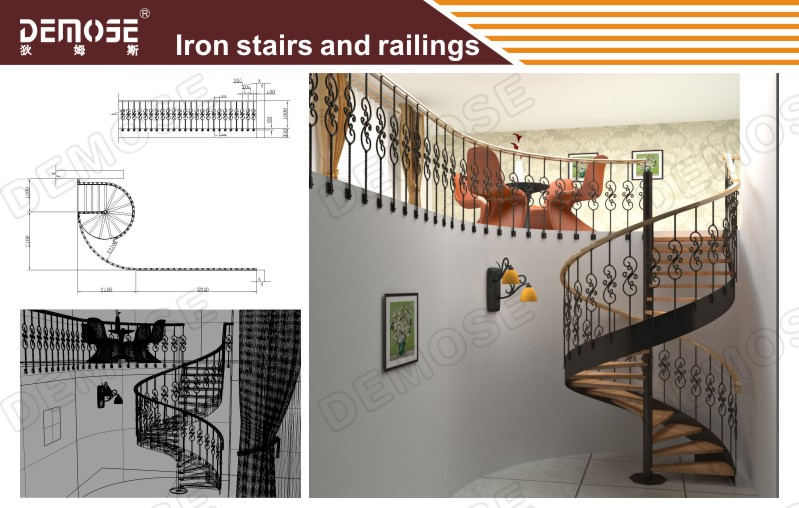 Modern House Cast Iron Spiral Stairs Grill Design Buy Stainless