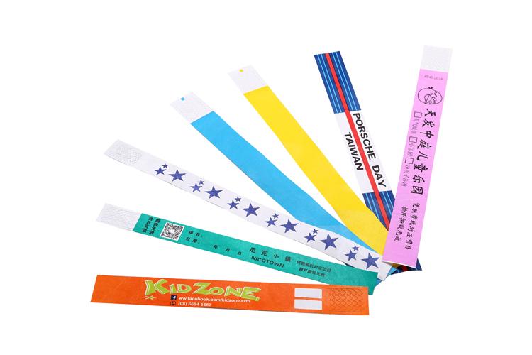 FTGO mürekkep püskürtmeli yazdırılabilir tyvek kağıt bileklik olay için kullanılan