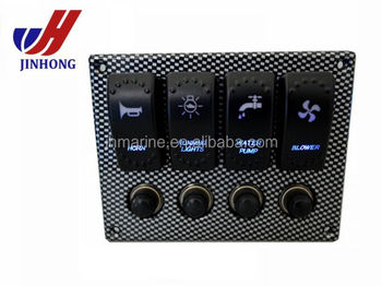 New 4 gang illuminating LED 12V rocker_350x350 new 4 gang illuminating led 12v rocker switch panel with circuit 4 Gang Switch Box at gsmx.co