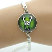 Мужской винтажный браслет Loki God of Mischief, модный аксессуар для платья, ювелирные изделия с супергероями из фильма «капитан», B275(Китай)