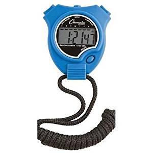 Champion Sports Running Walking Stop Watch-stopwatch-alarm -Blue