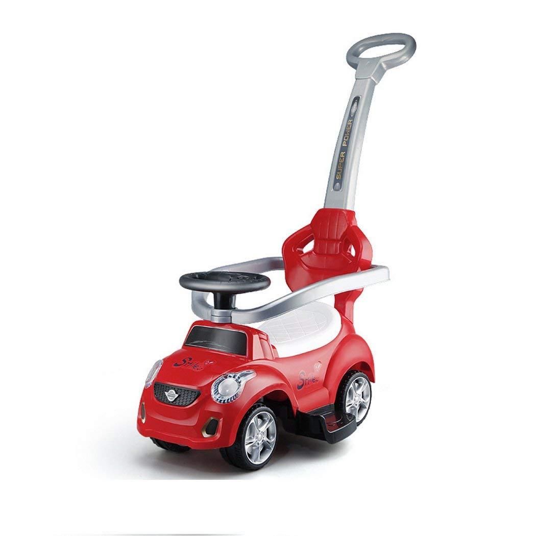 7fff224da7b Get Quotations · UNHO 3 In 1 Kids Ride On Push Car 4 Wheels Music Outdoor  Toddler Stroller Walker