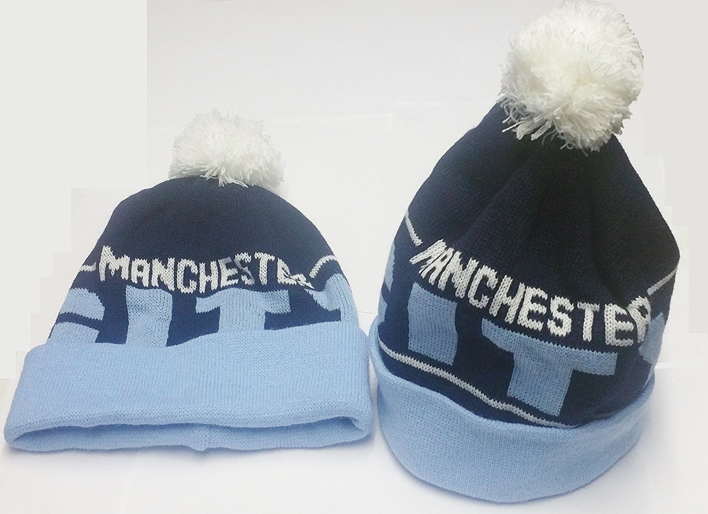 25bd9e7205803 Get Quotations · Manchester City Bobble Hats Blue   Navy Blue