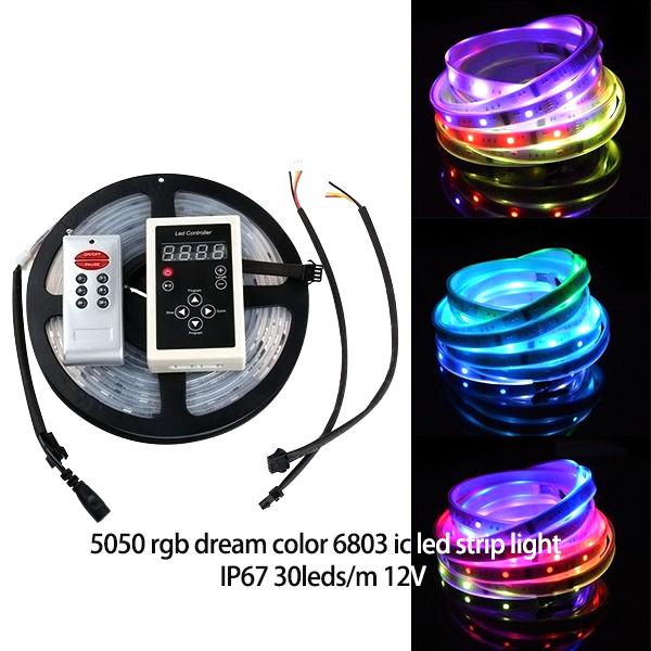 WS2811 Dream Magic RGB Color Multicolor 300LED Strip Light IP67 5M 5050 IC6803