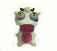 cow figure squeeze pop eye toy