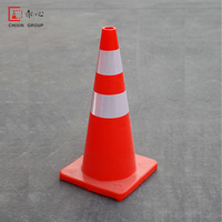 High Quality Colorful 70cm Orange Soft Flexible PVC Traffic Cone