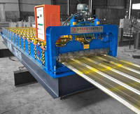 Zinc Trapezoidal Profile Roof Wall Panel Metal Cold Roll Forming Machine roll former stainless steel forming machine