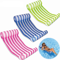 Water Floating Hammock Portable Swimming Pool Mat Pool Air Mat Pool Float Recliner with Inflatable Rafts