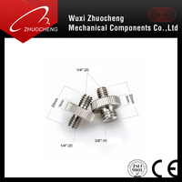 High quality double threaded 3/8 to 1/4 Camera screw
