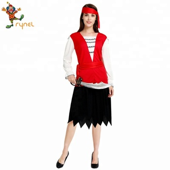 New Brand Cheap Women Easy Cosplay Pirate Carnival Party Costume