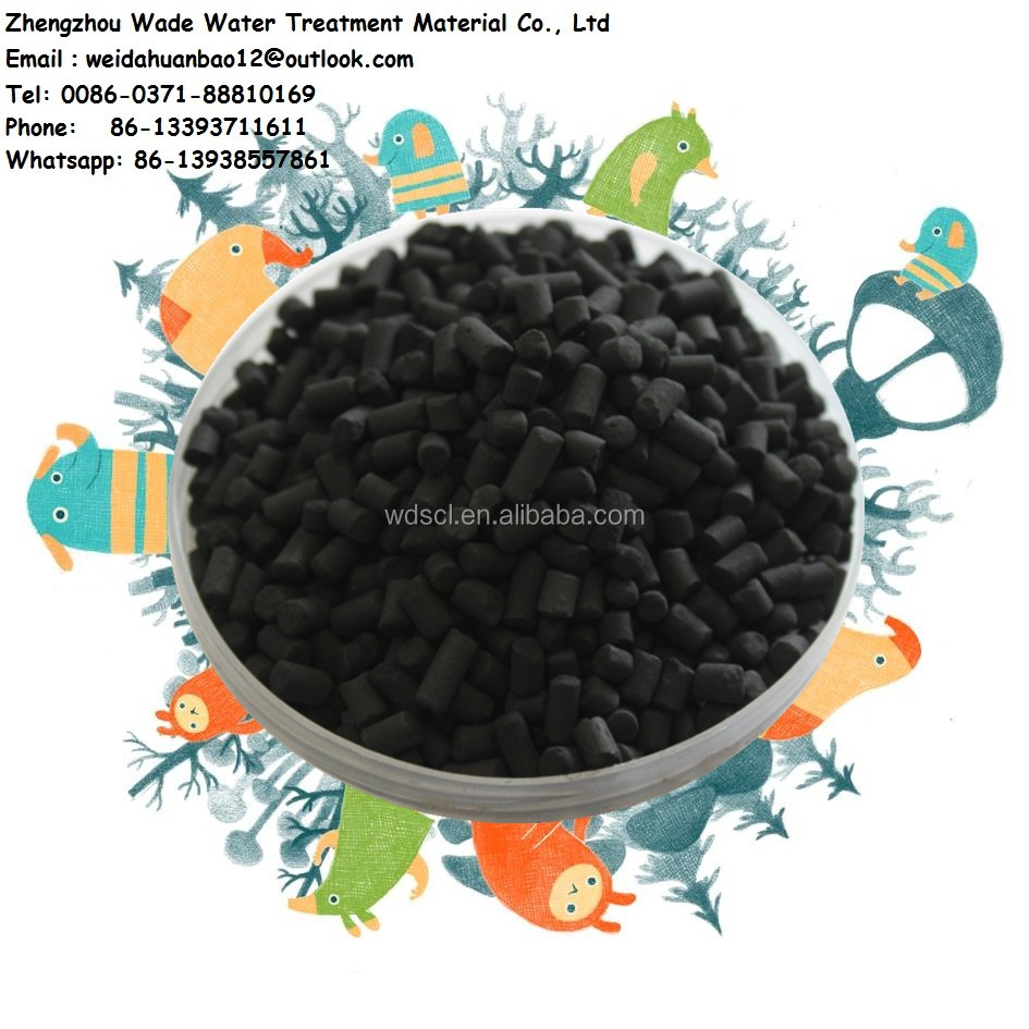 Coagulation - activated carbon adsorption method whole coconut shell